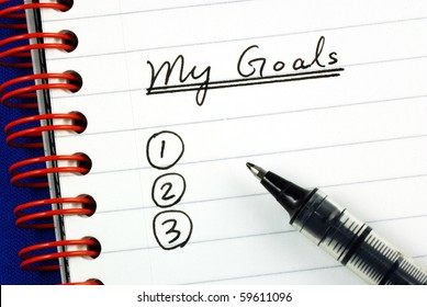 My goals list concepts of target and objective