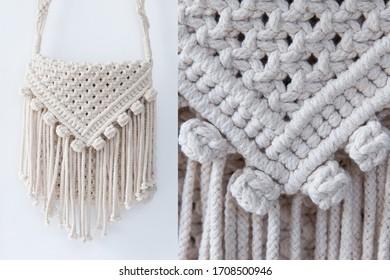 My Hobby knitting handmade macrame.