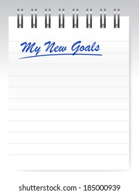 my new goals notepad illustration design over a white background