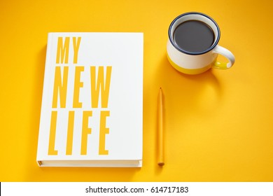 my new life written on a book
