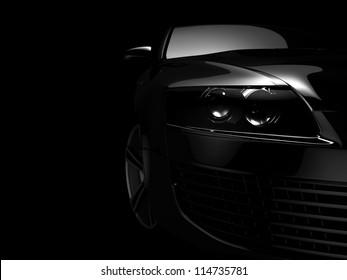 My own Car design background. 3D render.