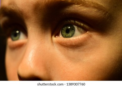 My poor eyesight is a part of me. Eye test at oculist. Small boy wear contact lens. Little boy with poor eyesight. Oculist prescribe corrective lens. Childhood health care. Save your eye sight.