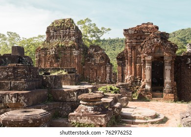My Son ancient ruins in Vietnam jungle