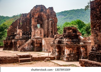My Son UNESCO World Heritage site near Hoi An in central Vietnam is an ancient Hindu temple complex.