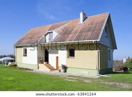 My Standard Simple Rural House Village Stock Photo Edit Now