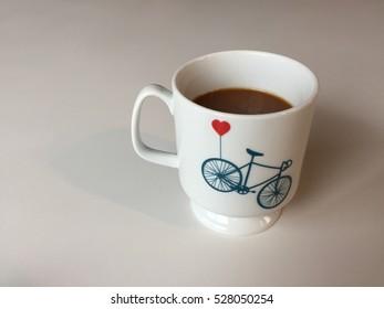 My white balloon bicycle mug.