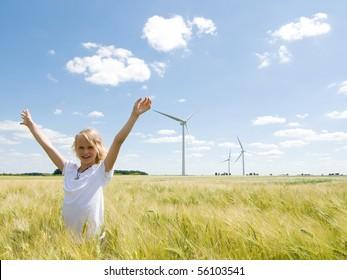 My windfarm. Renewable energy concept