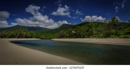The Myall Creek, where the world heritage listed Daintree Rainforest meets the Great Barrier Reef and crocodiles live.