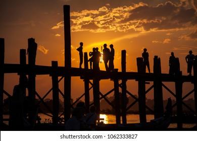 Myanmar Birmania the world's largest teka bridge