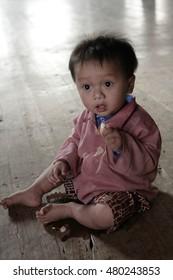 Myanmar (Burma), 16 January 2006. Burmese Child, Myanmar (Burma), 16 January 2006.