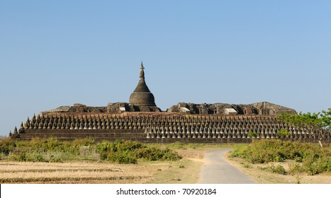 Myanmar (Burma), Mrauk U temples. Kothaung Temple - one of the Mrauk U highlights. Built in 1553 by King Minbun's son, King Mintaikkha, to outdo his pop's Shittaung by 10000 images