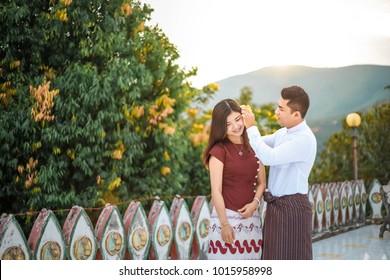 Myanmar culture couple