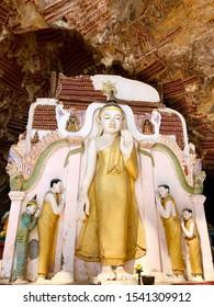 MYANMAR, HPA AN - FEBRUARY, 2018 - KAW GON CAVE STANDING BUDDHA