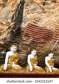 MYANMAR, HPA AN - FEBRUARY, 2018 - KAW GON CAVE BUDDHAS
