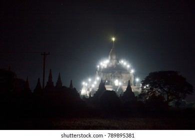 Myanmar. Temples of Bagan at night