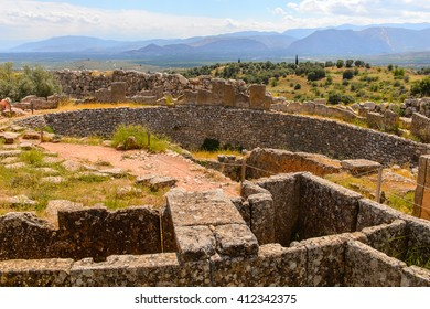 Mycenae, center of Greek civilization, Peloponnese, Greece. Mycenae is a famous archaeological site in Greece. UNESCO World Heritage Site