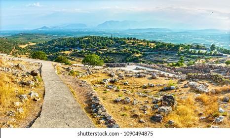 Mycenae,  near Mikines in Greece, in the north-eastern Peloponnese.