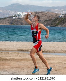 Mykonos, Cyclades / Greece - May 20 2018: Triathlon1 Mykonos Multisport