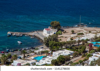 Mykonos Greece Aerial view of Agios Ioannis