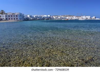 Mykonos pebble beach Greek Island