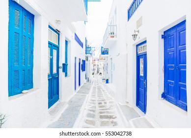 Mykonos street, Greece