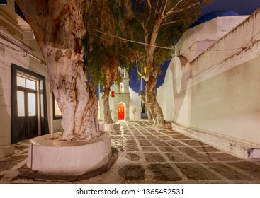 Mykonos. Traditional building of the Greek Church.