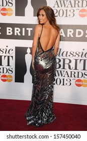 Myleene Klass arrives for the Classic Brit Awards 2013 at the Royal Albert Hall, London. 02/10/2013