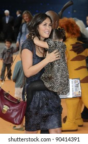 """Myleene Klass and daughter, Ava arrives for the premiere of """"The Lion King 3D"""" at the bfi IMAX cinema, London. 25/09/2011  Picture by Steve Vas/Featureflash"""