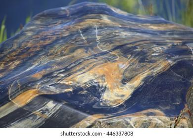 Mylonite (metamorphic rock) background texture wild outdoors