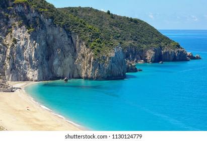 Mylos Beach, in Agios Nikitas, Lefkada island, Greece