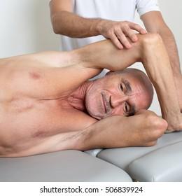 myofascial release on an biceps
