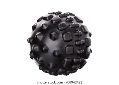 Myofascial rubber ball for self-massage. On white background.
