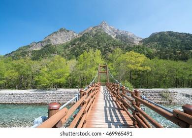 Myojin bridge at Kamikochi,nagano,japan