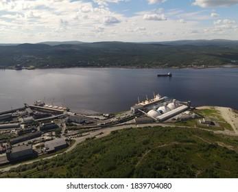 Myrmansk Kola bay Kolskiy zaliv. - Shutterstock ID 1839704080