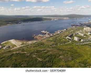 Myrmansk Kola bay Kolskiy zaliv. - Shutterstock ID 1839704089
