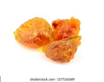 Myrrh Medicinal and Aroma Resin Gum. Isolated on White Background.
