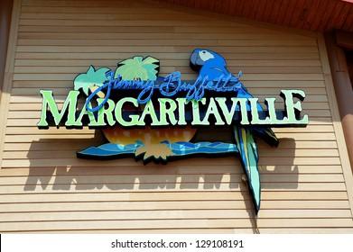 MYRTLE BEACH - FEBRUARY 22: National Margarita Day is celebrated at Jimmy Buffett's Margaritaville . Friday, February 22, 2013. Myrtle Beach, South Carolina.