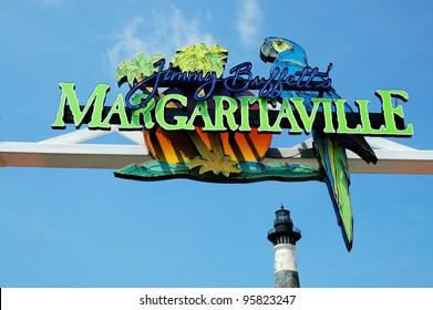 MYRTLE BEACH - FEBRUARY 22: National Margarita Day is celebrated at Jimmy Buffett's Margaritaville . Wednesday, February 22, 2012. Myrtle Beach, South Carolina.