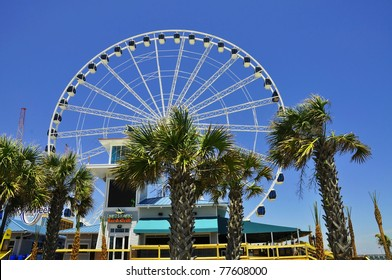 MYRTLE BEACH - MAY 20: Opening day ceremonies for Skywheel. First observation wheel of its kind in the United States (187 feet tall). Friday, May 20, 2011. Myrtle Beach, South Carolina.