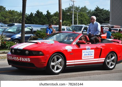 MYRTLE BEACH, SOUTH CAROLINA - MAY 28: The city honored servicemen on Memorial Day weekend which is kicked off by a parade with John McCain as Grand Marshal on May 28, 2011 in Myrtle Beach, South Carolina.