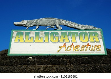 Myrtle Beach, South Carolina / USA - October 16 2008: Alligator Adventure is located in North Myrtle Beach, where you will find you'll find yourself face to face with nature's fiercest animals.