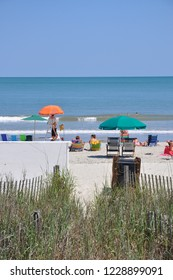 Myrtle Beach, South Carolina / USA - June 3 2012: A beautiful day in Myrtle Beach South Carolina also known as The Grand Strand. Offering visitors over 60 miles of beautiful beaches.