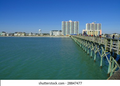 Myrtle Beach South Carolina View From Cherry Grove, Fishing Pier