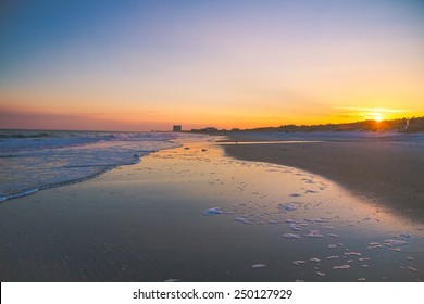 Myrtle Beach Sunset. The sunsets along the wide sandy beaches of South Carolina's Grand Strand.