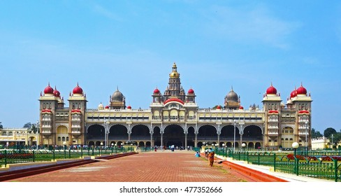 MYSORE, INDIA - JAN 13, 2015: Mysore Palace, Mysore, Karnataka state, India