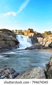 Mysore, Karnataka, India, 01/01/2018, water falls