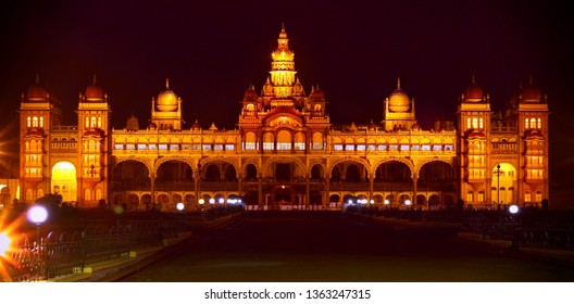 Mysore palace  with a long exposure shot.