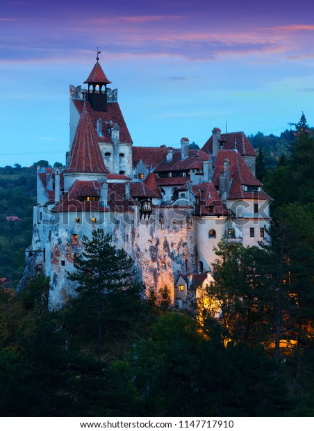 Mysterious Bran castle, also called Dracula's castle. Brasov, Romania