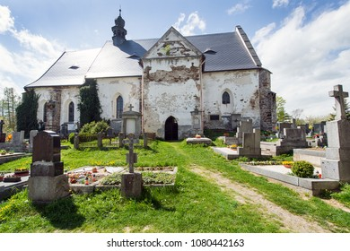 Mysterious cemetery in Velhartice, Czech republic