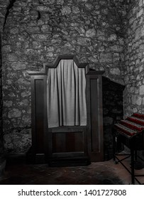 The mysterious confessional of the church.